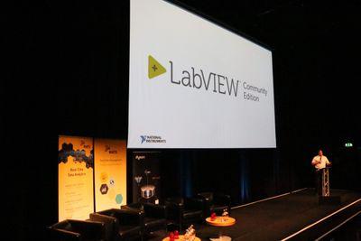 Eric Reffett announces LabVIEW Community Edition at GDevCon#2 in Birmingham, UK.
