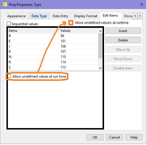 Proposal to make the Edit Items box longer