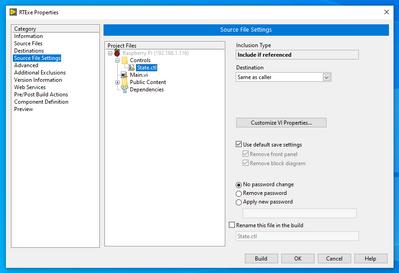 Source File Settings