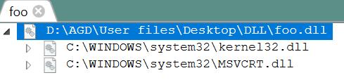 foo.dll direct dependencies