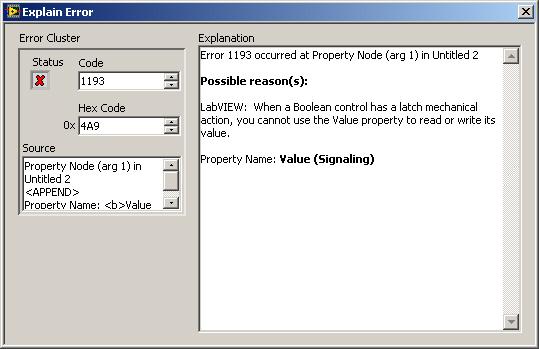 Change Runtime Error To Broken Vi If Using Value Or Value