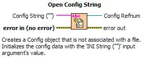 Open Config String