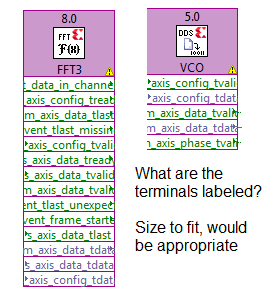 Typical Xilinx IP icons in expanded view