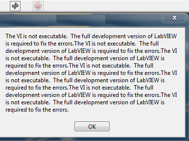 The vi is not executable The full dev ver of LabVIEW required to fix errs.png