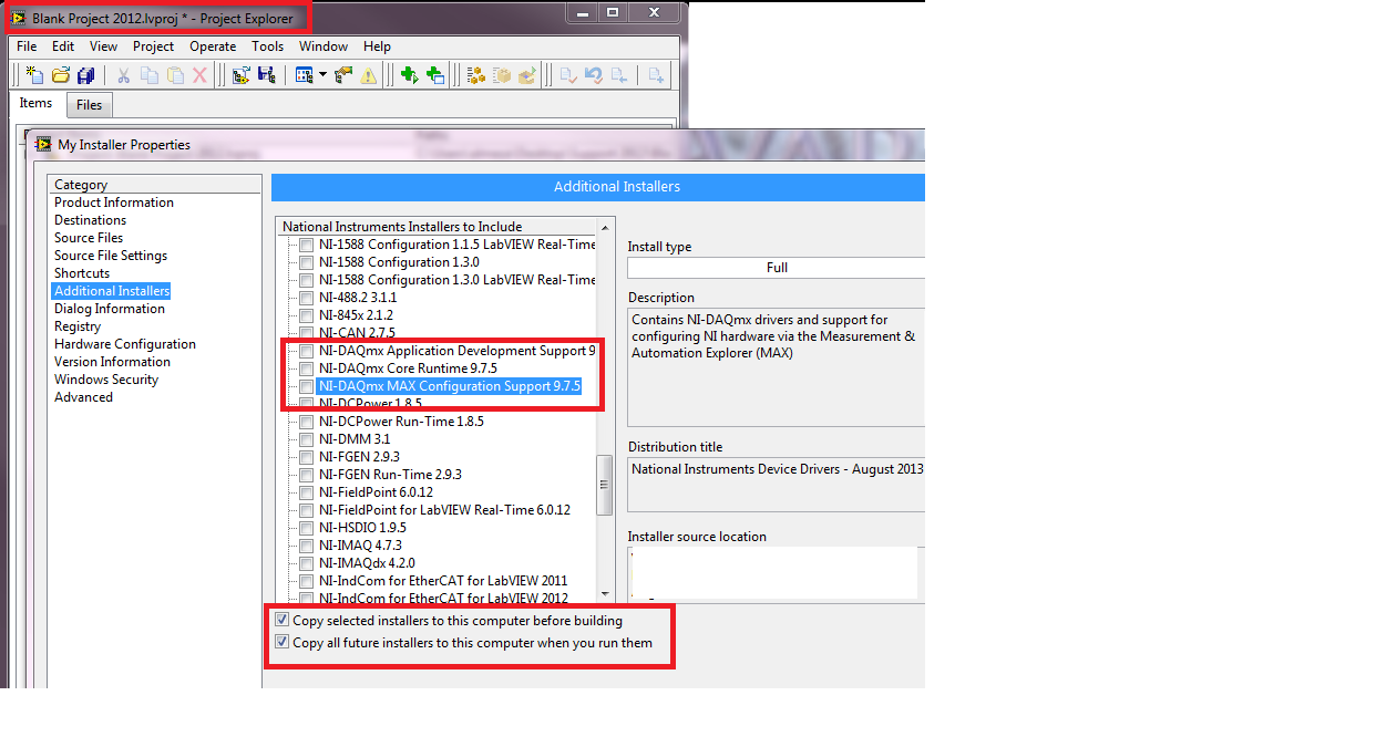 Solved: Missing  dll? (nilvaiu dll)    when building an installer in