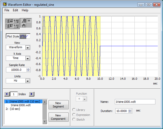 Solved: How to generate a pulse with the waveform generator? - NI