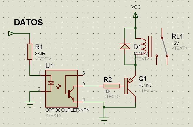 Circuito Optoacoplador : Conectar rele de v a los puertos digitales una usb