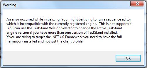 Error launching TS