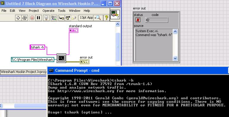 Tshark LabVIEW Communication Issue - NI Community - National Instruments
