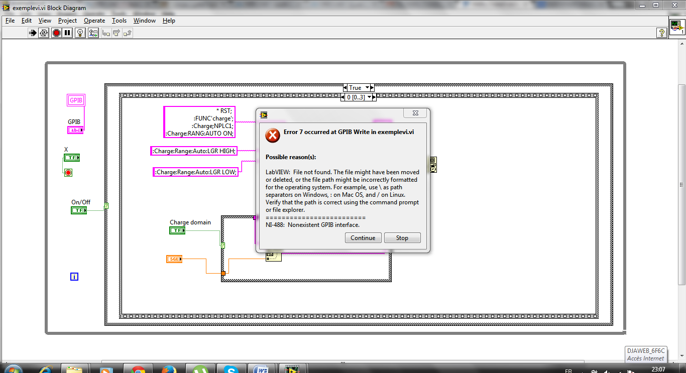 Hello I Need Someone To Help Me On This Program Labview When Try Block Diagram Linux It Tells That Theres An Error And Have Not Found