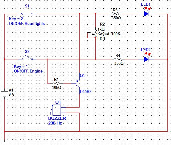 Automatic & manual Headlights alarm circuit with LDR - Discussion ...