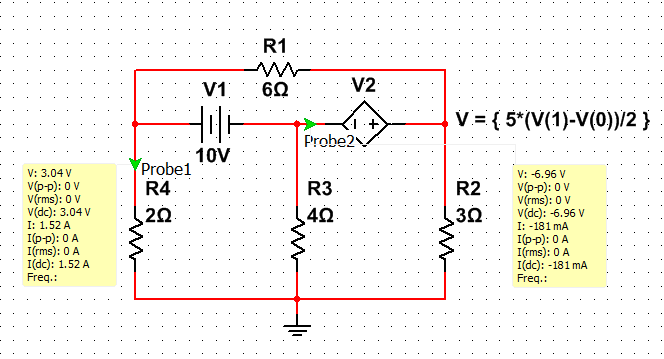 how to know if dependent voltage or current source