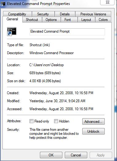 Solved: Run command prompt as administrator using system