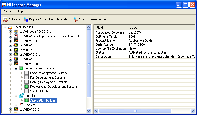 uninstall application builder - NI Community - National Instruments