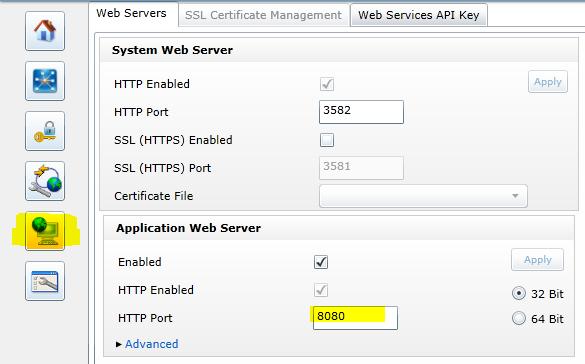 Turn off NI Application Web Server - eehelp com