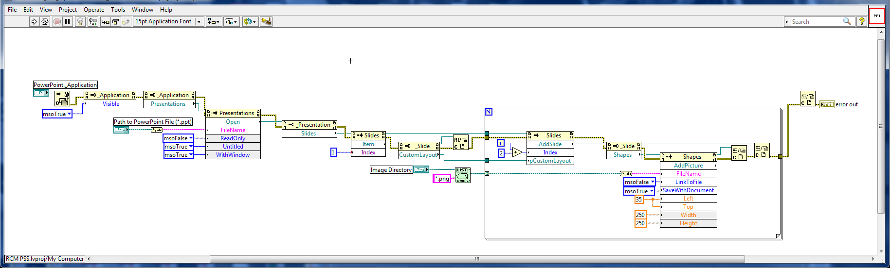 activex powerpoint - insert slide - NI Community - National
