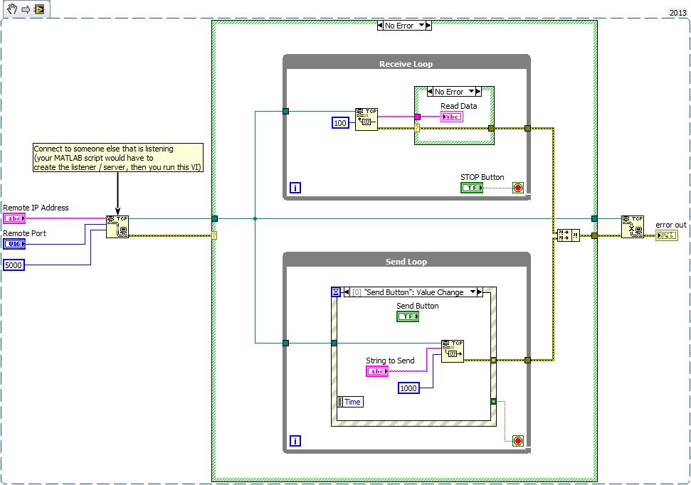 labview matlab tcp ip communication problem - NI Community
