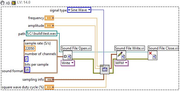 save waveform signal to  wav format - NI Community