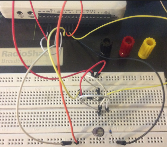 Solved Half Wave Rectified Filtered Circuit Oscilloscope