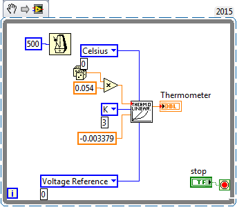 how to switching arduino thermistor with visa temperature read