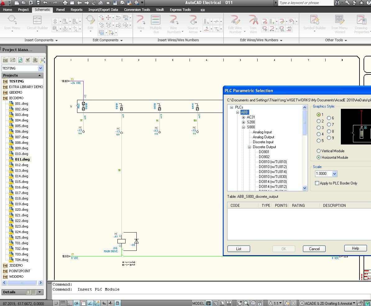 Schematic Drawing In Autocad Electrical Discussion Forums Free Wiring Program Untitled