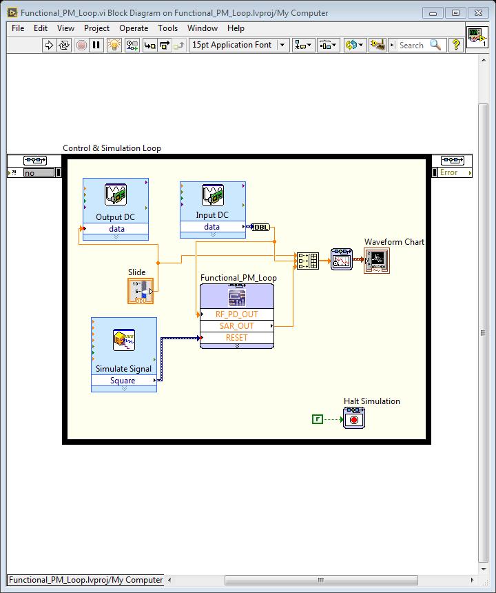 Passing analog input of mydaq via daq assistant to