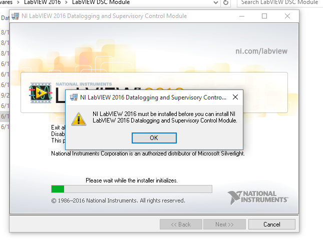 Solved: Problem in installation of DSC Module 2016 - NI Community