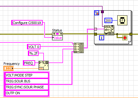 labview read serial port continuously