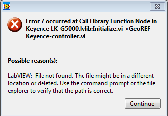 Solved: Error 7 only during executable for Call Function