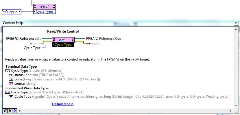 Incorrect data type when writing Typedef to FPGA Read/Write