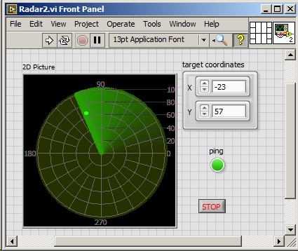 Solved: Question: How to make a radar simulation on XY Graph? - Page