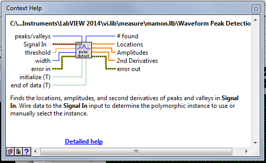 Waveform Peak Detection