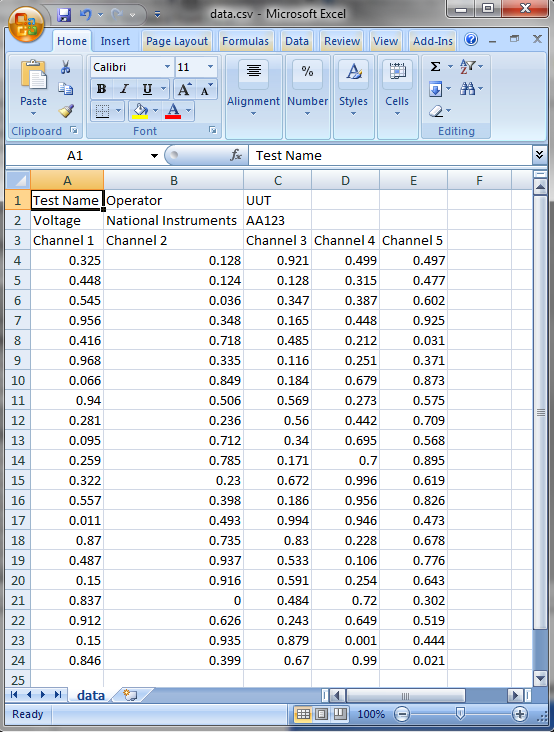 Getting Started: Write Continuous Data to Spreadsheet (CSV ... on convert excel to csv format, excel worksheet, excel comma delimited format, finished example csv format, openoffice xml format, excel spreadsheet format, excel json, text csv format, excel csv format with address, excel text file, excel 2010 file tab,