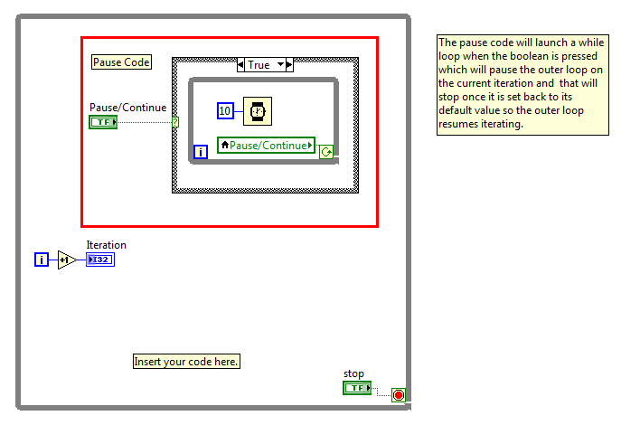c code block diagram block diagram while loop how to pause a while loop in labview? - ni community - national instruments