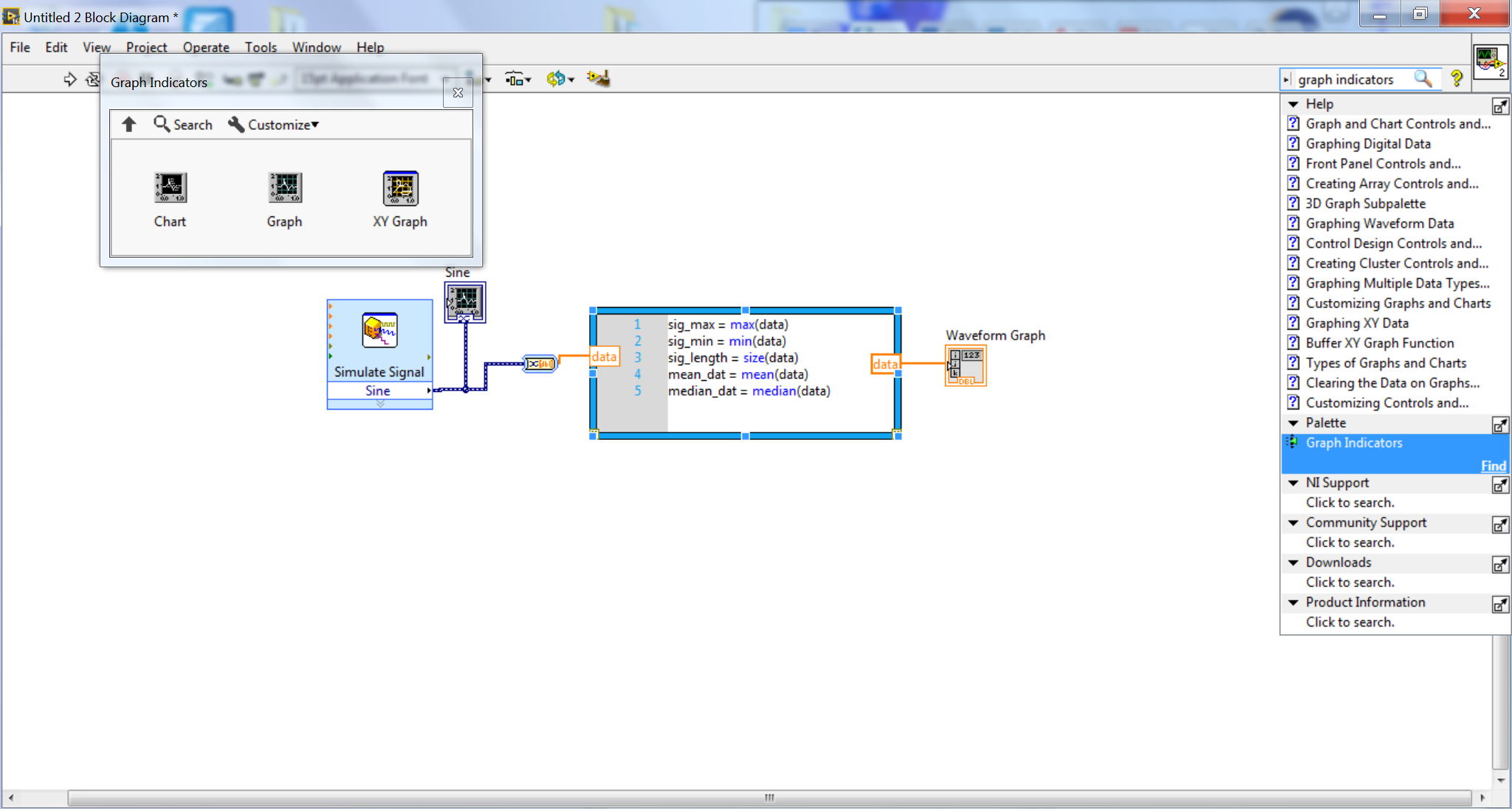Solved view signal as graph rather than vector discussion forums labview graph indicatorg ccuart Gallery