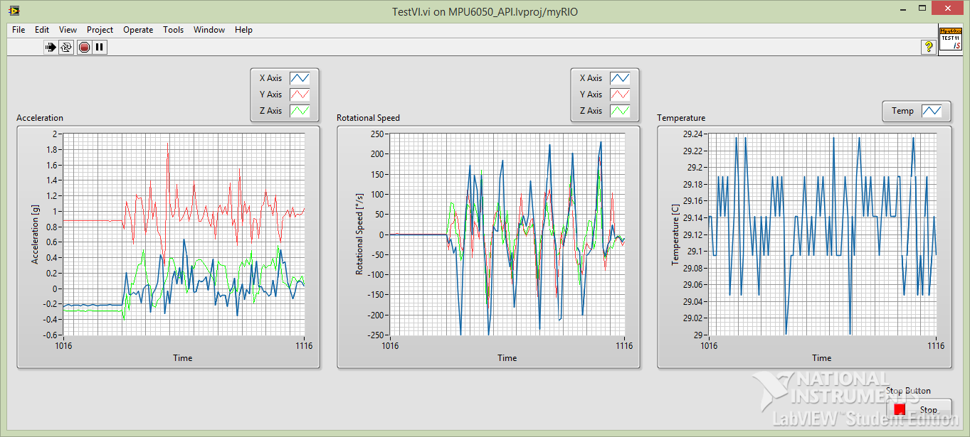 Invensense MPU6050 - Accelerometer and Gyro - LabVIEW API - NI