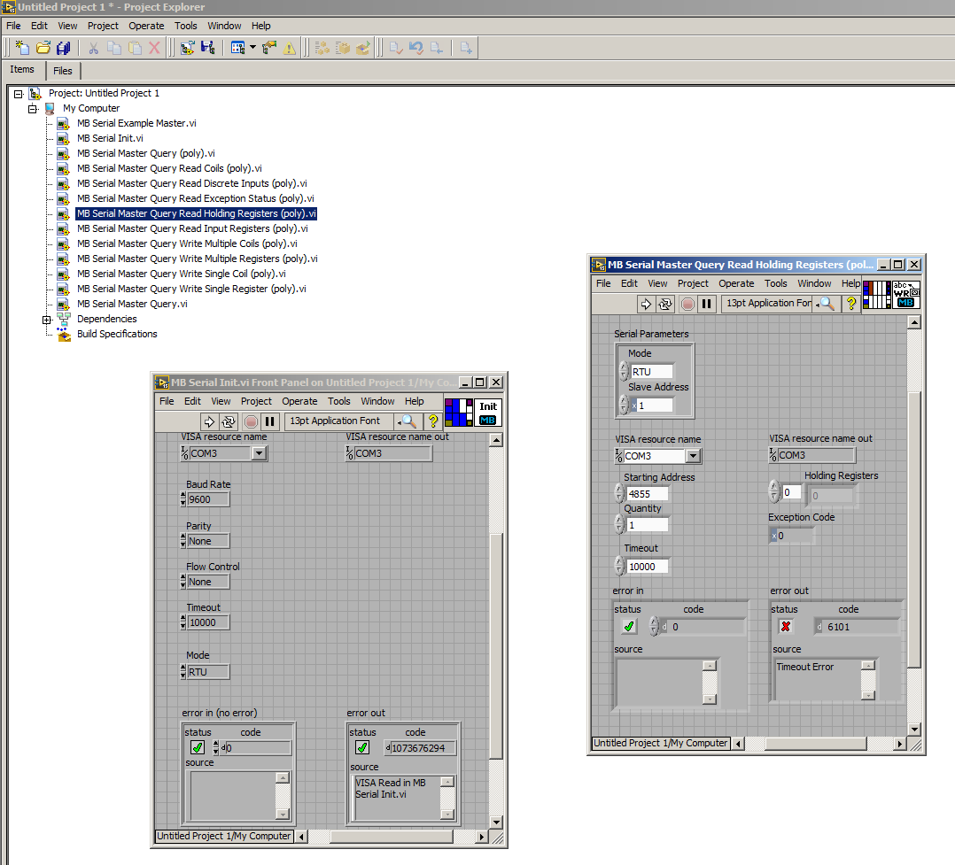 Solved: MODBUS parameters for VFD communication to Labview ...