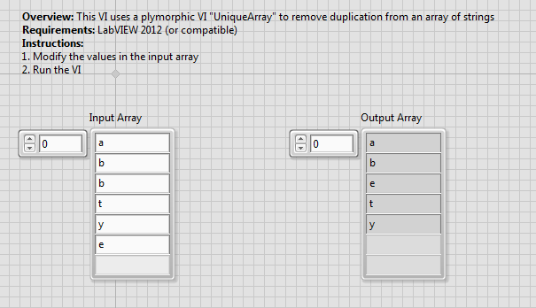 Remove duplicate values in an Array - NI Community