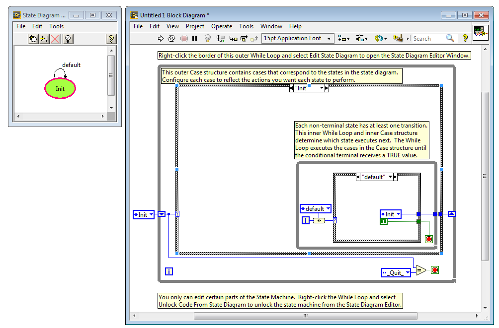 labview state diagram toolkit discussion forums national instruments - Block Diagram Editor