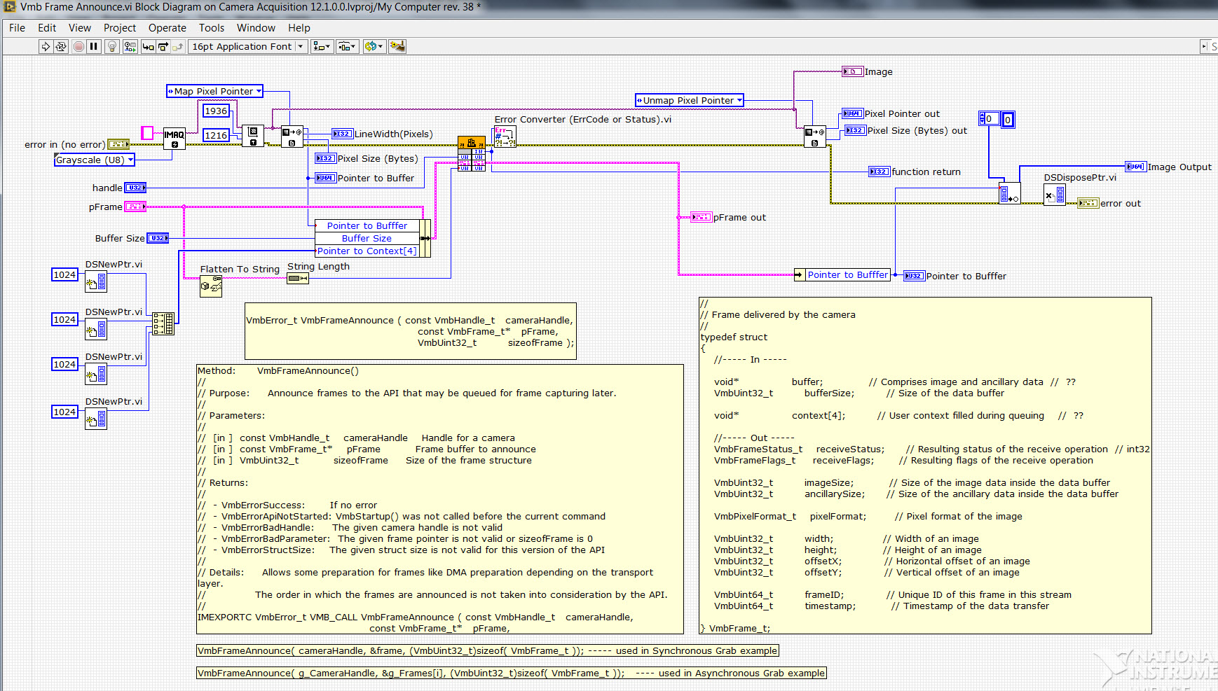 Complex cluster as input to calling a dll, vimba, allied vision ...