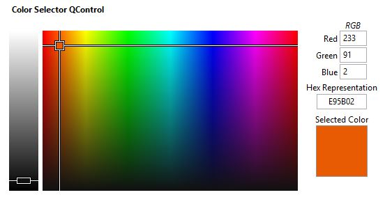 ColorSelector QControl