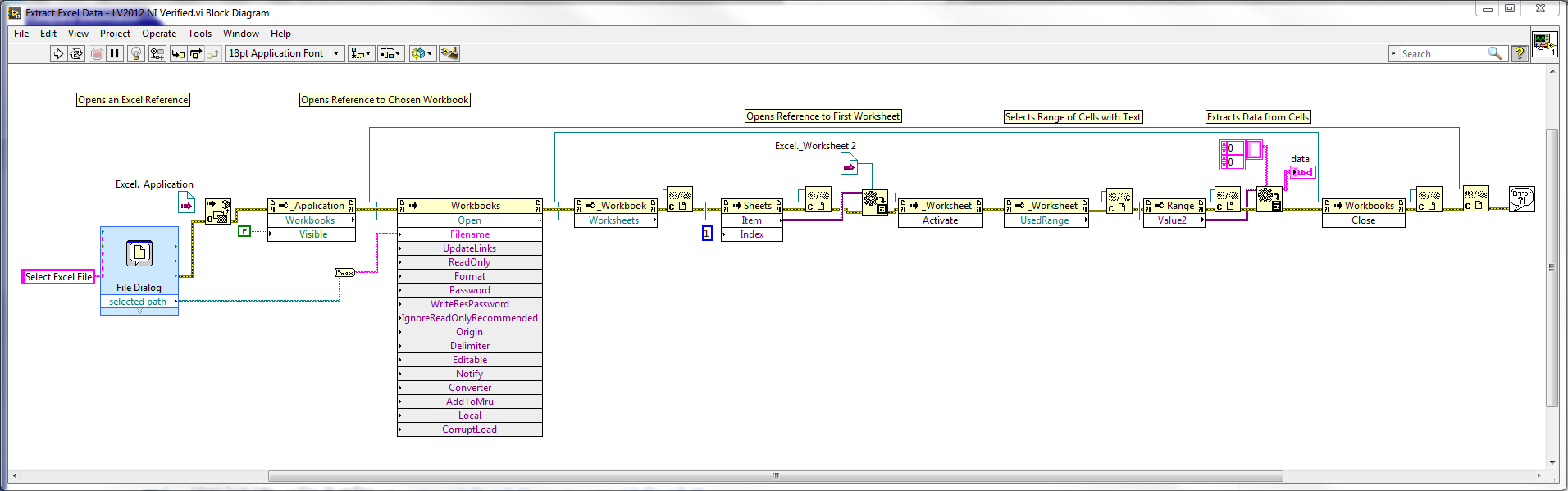 Extract All Data From Excel Worksheet Discussion Forums National Block Diagram Instruments
