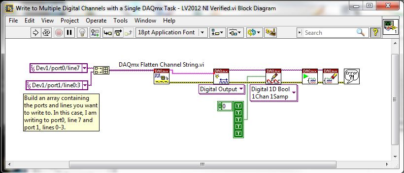 Write To Multiple Digital Channels With A Single Daqmx Task