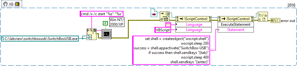 Solved: Run exe and afterwards run VBScript - NI Community