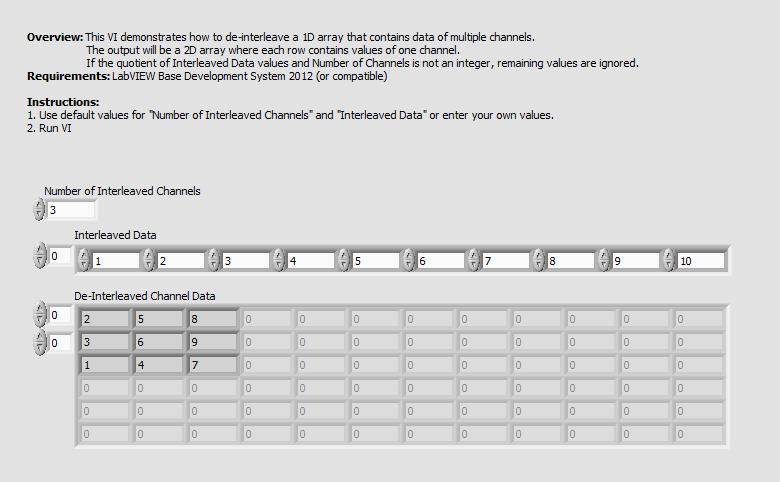 De Interleaving data of 1D array LV2012 NIVerified.vi - Front Panel.png