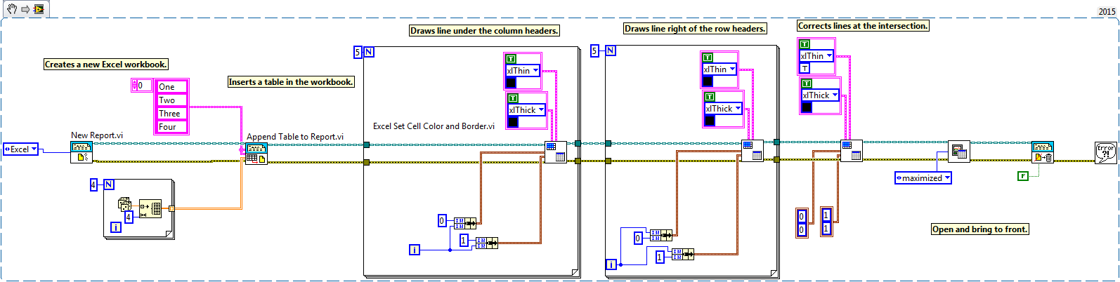 Custom Cell Borders in Excel with the Report Generation Toolkit - NI