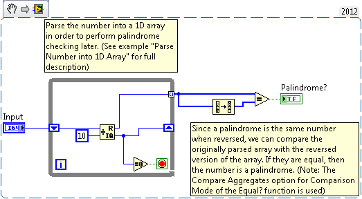 Check if Number is a Palindrome - NI Community - National Instruments