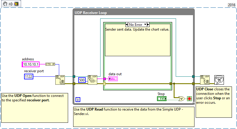 UDP Read does not receive data - NI Community - National Instruments