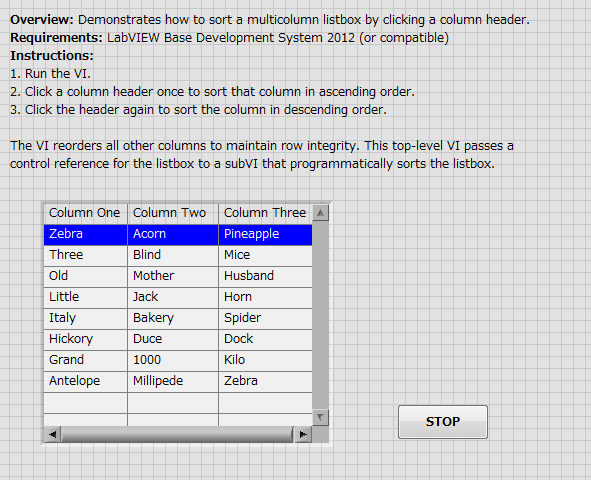 Sorting multicolumn listbox by clicking on column header using multicolumn listbox sort 2012 niverified front panelg ibookread Read Online