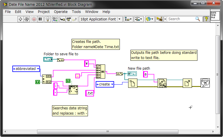 Set Filename with Current Date/Time using LabVIEW - NI Community